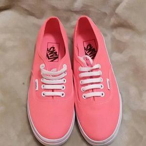 VANS neon coral/orange pink womens sz6.5